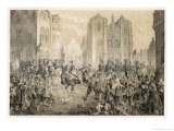 The Protestants Under Herzog Bernhard Recapture Regensburg Giclee Print by C.a. Dahlstrom