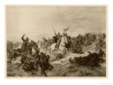 Battle of Hastings the Norman Knights Overwhelm the English Foot-Soldiers Giclee Print by Henri Dupray