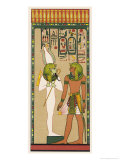 King Seti I Addressing Osiris Khent-Amentet Giclee Print by E.a. Wallis Budge