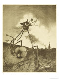 The War of the Worlds, a Martian Fighting-Machine in Action Giclee Print by Henrique Alvim Corrêa
