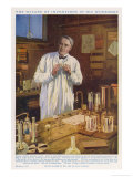Thomas Alva Edison American Inventor in His Workshop at West Orange New Jersey Premium Giclee Print by John Cameron