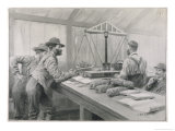 Weighing Gold at the Bank in Klondike Canada Giclee Print by Julius M. Price