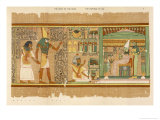 Papyrus of Ani the Dead Ani Judged Innocent is Presented by Horus to Osiris Premium Giclee Print by E.a. Wallis Budge