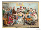 "The ""Cow Pock"" or the Wonderful Effects of the New Inoculation, Satire on Jenner's Treatment Giclee Print by James Gillray"