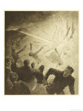 The War of the Worlds, The Martians, Heat-Ray Disperses the Crowd Giclee Print by Henrique Alvim Corrêa
