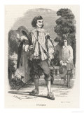 Portrait of the Young Gascon Gentleman: D'Artagnan Giclee Print by V. Beauce
