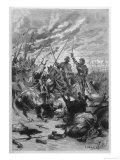 The Combat Des Treize Giclee Print by C. Delort