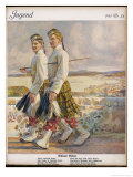 Two Scottish Soldiers in Walking-Out Dress at Oban Giclee Print by Raimund Germela