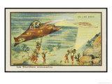 Underwater Warfare Giclee Print by Jean Marc Cote