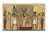 Isis She Suckles Horus in the Papyrus Swamps Giclee Print by E.a. Wallis Budge