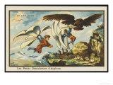 Boys Birdsnesting Giclee Print by Jean Marc Cote