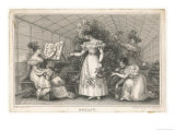 Elegant Ladies in a Conservatory Giclee Print by E. Burney
