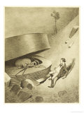 The War of the Worlds, The First Martian Emerges from the Cylinder Giclee Print by Henrique Alvim Corrêa