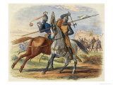 Before the Battle King Robert De Bruce VIII Kills Sir Henry De Bohun in Single Combat Premium Giclee Print by James Doyle