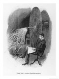Nikola Tesla Serbian Inventor Seated Beside His Wireless Telegraphy Apparatus Giclee Print by Warwick Goble