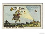 Helicopter Sentinel Giclee Print by Jean Marc Cote