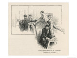 Taking the Measurements of a Suspect Using the Bertillon System Giclee Print by Arthur Twidle