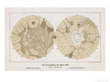 The Two Hemispheres as Drawn by Schiaparelli Giclee Print by Sir Robert Ball