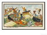 An Aerial Fete Des Fleurs Giclee Print by Jean Marc Cote