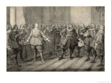 The Kurfurst Von Sachsen and the Swedish General Johan Baner Giclee Print by C.a. Dahlstrom
