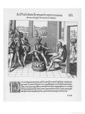 Spanish Traveller Benzoni is to the Wife of an Important King Giclee Print by Theodor de Bry