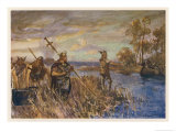 Danish Raiders in the Coastal Marshlands of East Anglia Giclee Print by Allen Stewart
