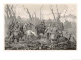 The Swedes Defeat the Danes at Jankov and Torstenson Takes Hatzfeld Prisoner Giclee Print by C.a. Dahlstrom