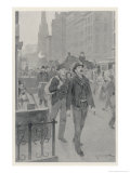 Immigrants from Europe Newly Arrived in New York Giclee Print by Andre Castaigne