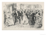 Cotillion Dancing in a Fashionable London Ballroom Giclee Print by Frederick Barnard