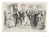 Cotillion Dancing in a Fashionable London Ballroom Giclee Print by Frederick Barnard