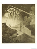 The War of the Worlds, The Heat-Ray in the Chobham Road Giclee Print by Henrique Alvim Corrêa