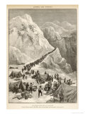 The Klondike Gold Rush, The Stream of Prospectors Making Their Way Across the Chilcot Pass Giclee Print by C. Clerice