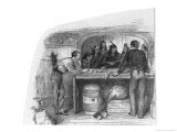Canada Native Canadians of Manitoba Bartering Furs for Guns in a Trade Shop Giclee Print by William Ralston