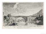 The Iron Bridge Over the Severn at Coalbrookdale Giclee Print by T.f. Burney