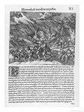 Spaniards in the West Indies Surprised by a Hurricane Giclee Print by Theodor de Bry
