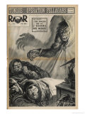 Sherpas Guiding a Japanese Everest Expedition are Woken by a Yeti Peering into Their Tent Giclee Print by Rino Ferrari