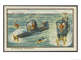 Submarine Yachting Giclee Print by Jean Marc Cote