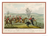 Shavington Day a Trial Between Rival Packs and Horsemen Giclee Print by Edward Duncan