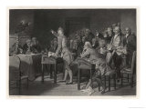 Patrick Henry Introduces Radical Resolutions Opposing the Stamp Act Giclee Print by Alonzo Chappel
