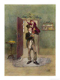 "Bob Cratchit with ""Tiny Tim"" His Crippled Youngest Son Giclee Print by Frederick Barnard"
