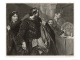 Macbeth, He Alone Sees Banquo's Ghost at the Banquet Giclee Print by M. Adamo