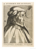 Taddeo Gaddi, Italian Artist and Architect, Giclee Print