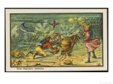 Children Hunting Crabs on the Sea-Bed Giclee Print by Jean Marc Cote