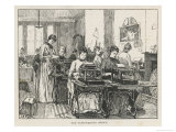 An Early &quot;Typing Pool&quot;, The Typing Office of the Society for the Employment of Women Giclee Print by John Henry Frederick Bacon