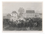 At Lexington Massachusetts Minutemen Resist British Marching to Seize Stores at Concord Giclee Print by Alonzo Chappel