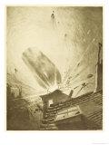 The War of the Worlds, The Fall of the Fifth Martian Cylinder Lámina giclée por Henrique Alvim Corrêa