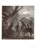 Napoleon as a Youth in Corsica is Told His Fortune by a Gipsy Giclee Print by Chansons De Beranger