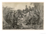 Tilly is Killed During the Battle of Leck by the Artillery Barrage of Gustaf Adolf Giclee Print by C.a. Dahlstrom