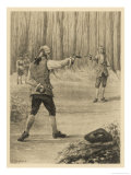Giovanni He Fights a Duel with Branecki Giclee Print by A. Gaymard