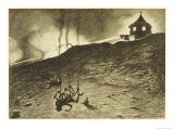 The War of the Worlds, The First Victims of the Martian Heat-Ray Giclee Print by Henrique Alvim Corrêa